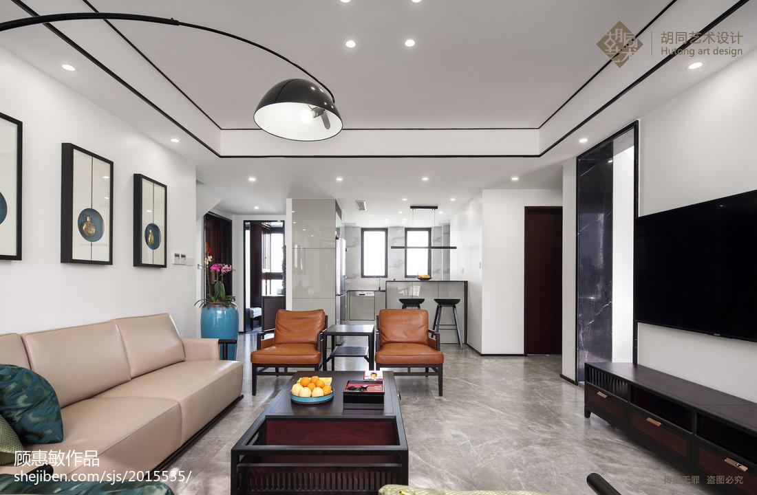 热门90平方三居客厅中式装修效果图