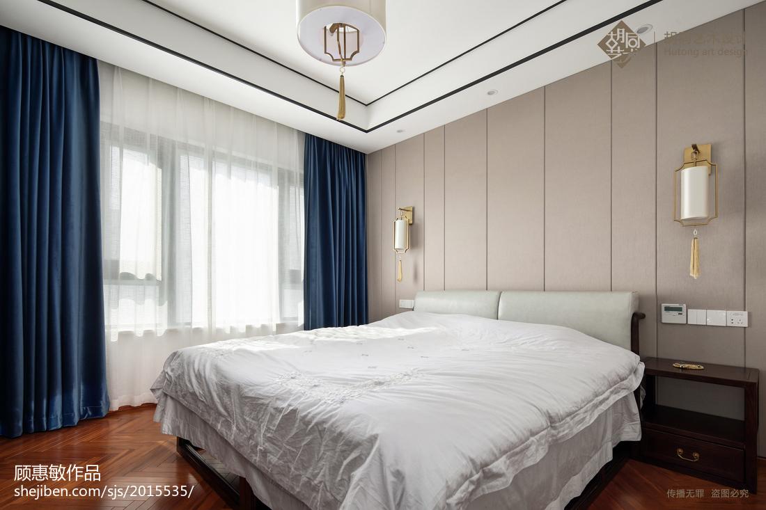 精选面积109平中式三居卧室实景图片