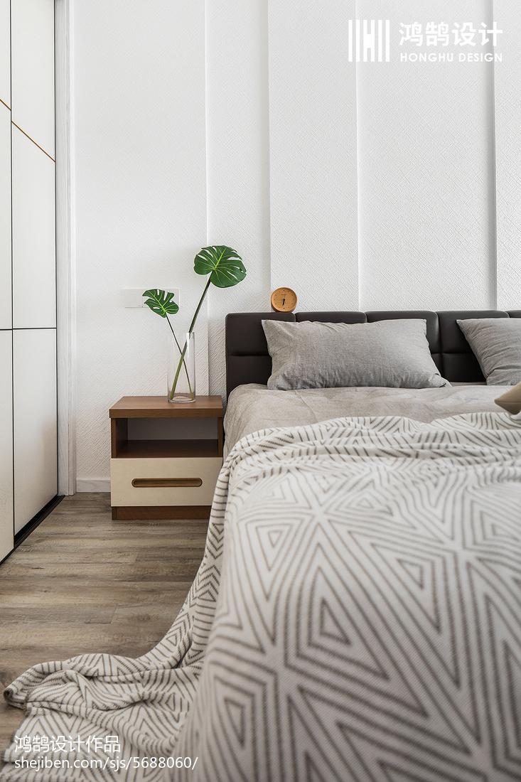 2018面积109平北欧三居卧室装修图片