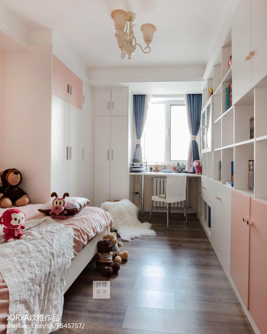美式风三居儿童房实景图片