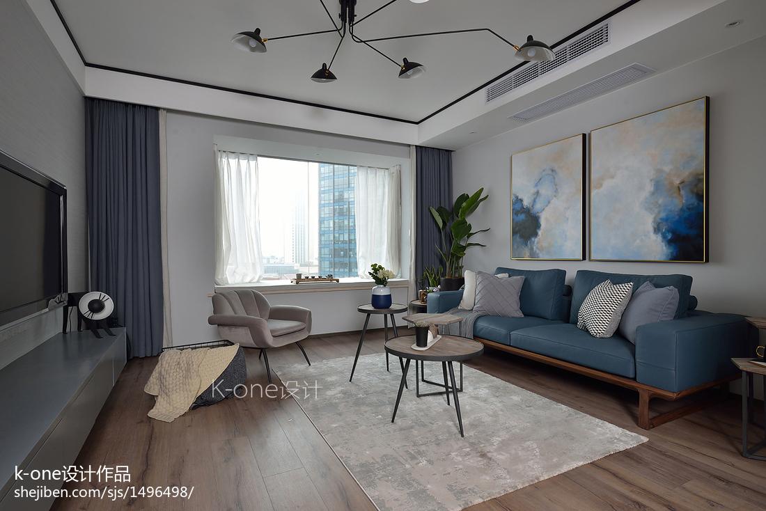 99平米三居客厅现代实景图片大全