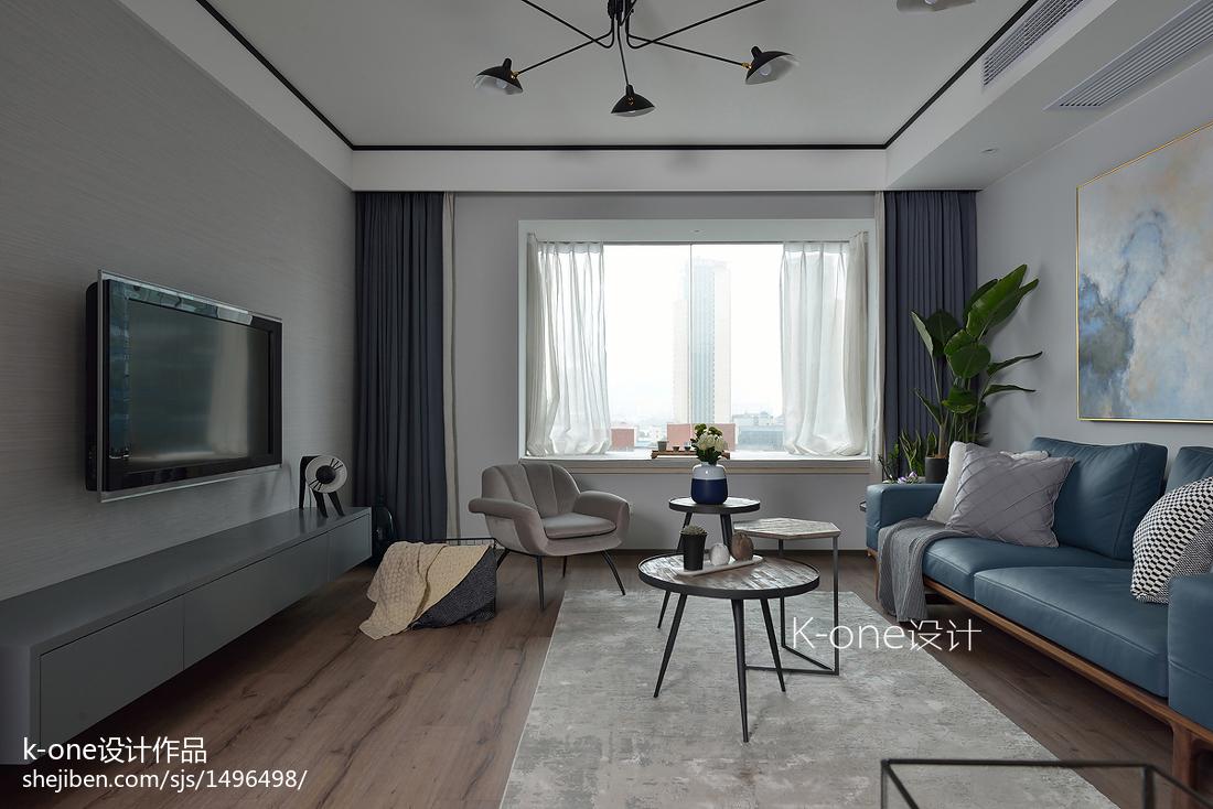 温馨120平现代三居客厅效果图片大全