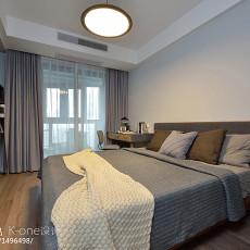 现代风三居主卧室设计图