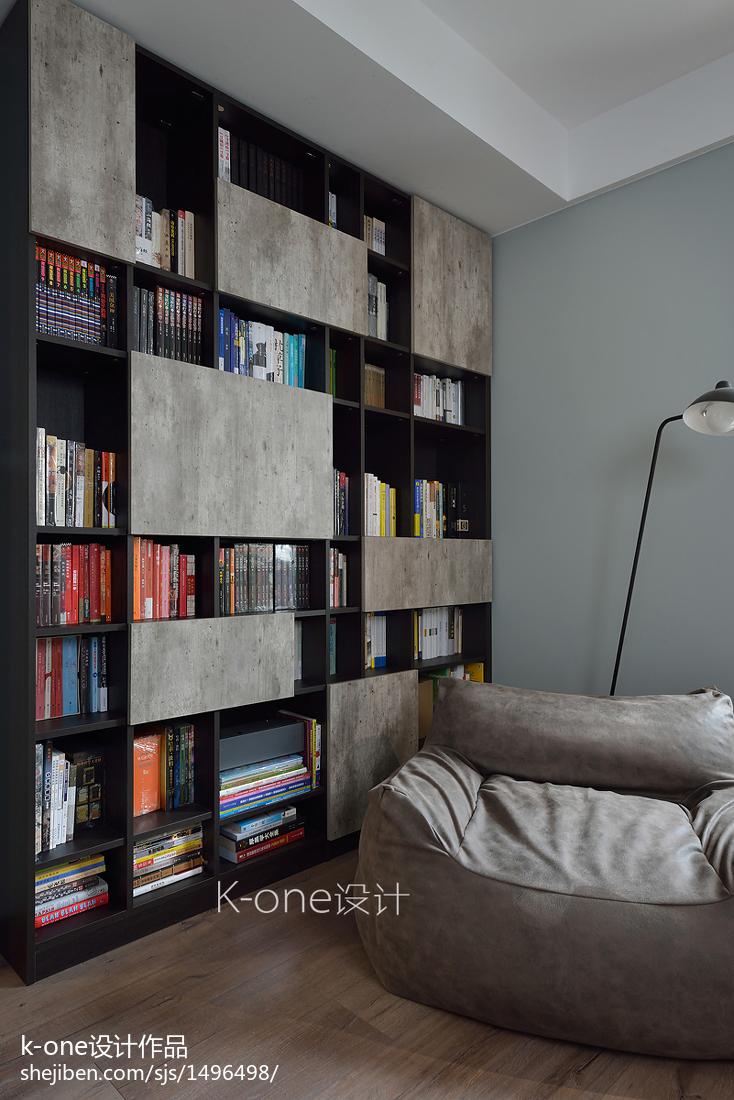 现代风三居书房设计实景图
