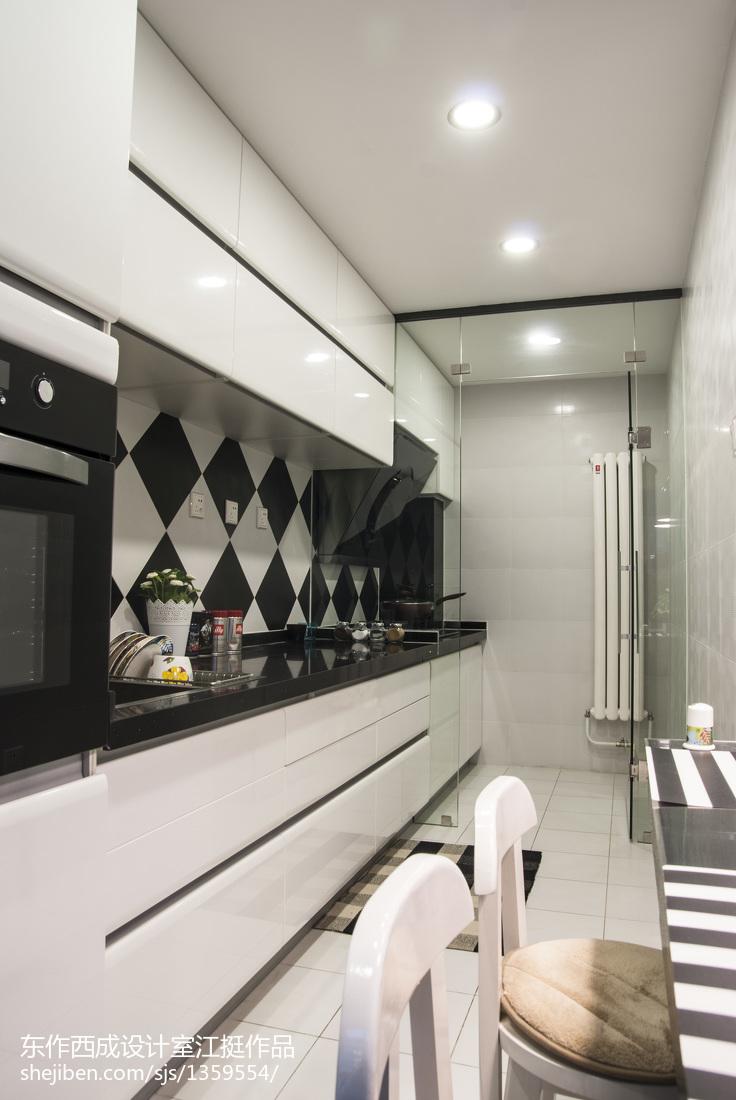 面积124平复式厨房简约效果图片欣赏