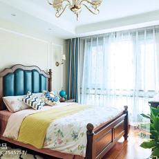2018105平米三居卧室美式装饰图片大全