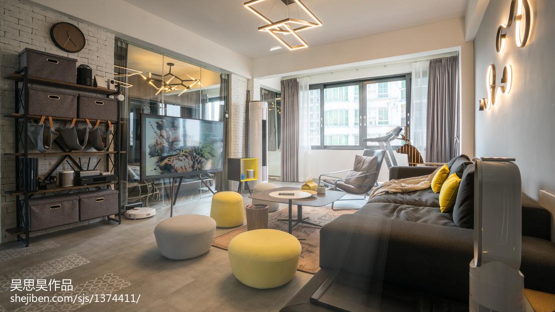 典雅39平混搭小户型客厅效果图