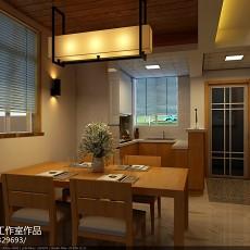热门100平米三居餐厅东南亚装修效果图片大全