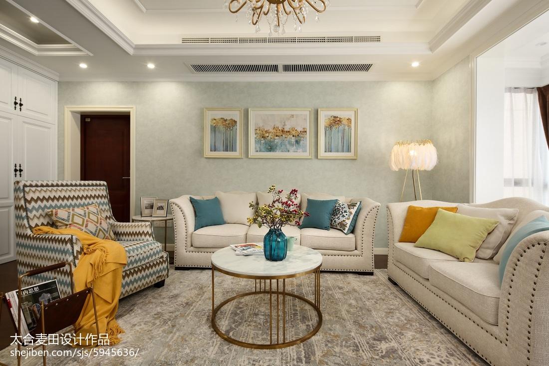 美式客厅装饰画设计图