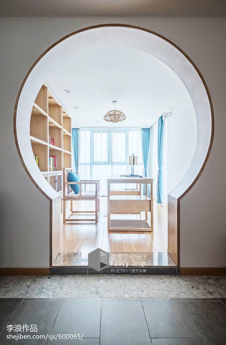 热门123平米四居书房中式装修设计效果图片