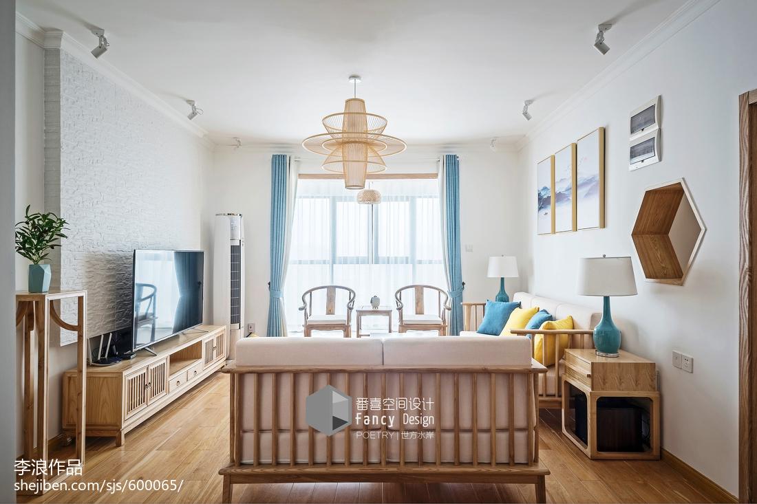 面积128平中式四居客厅装修效果图片欣赏