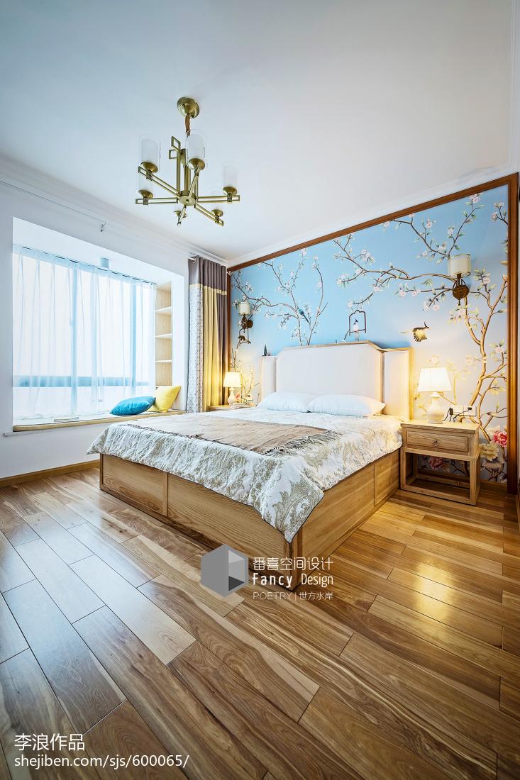 精美91平中式四居装饰美图