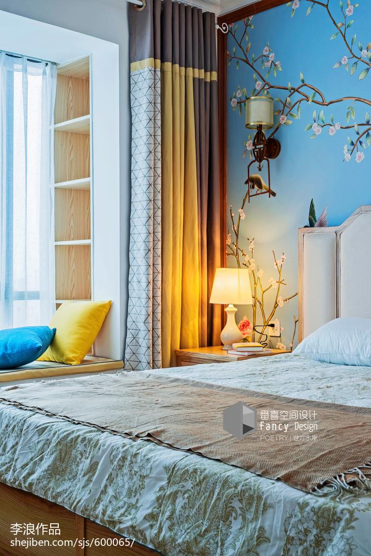 精美面积114平中式四居卧室装修设计效果图片