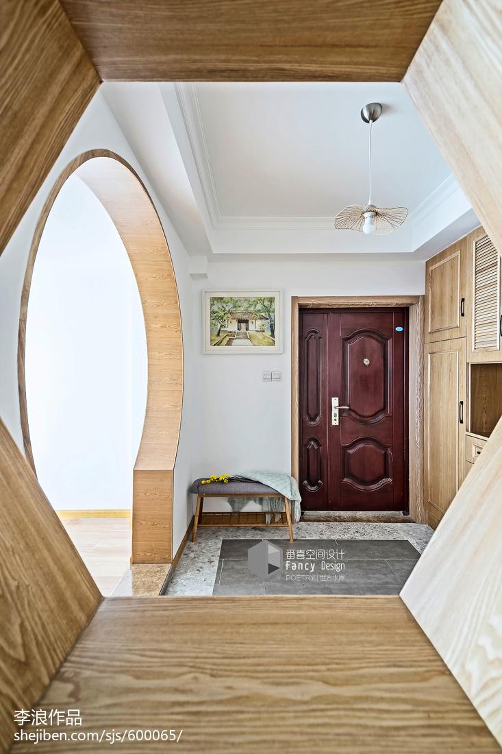热门面积144平中式四居玄关欣赏图片