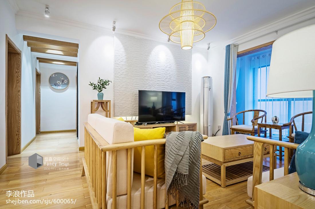 117平米四居客厅中式装修设计效果图