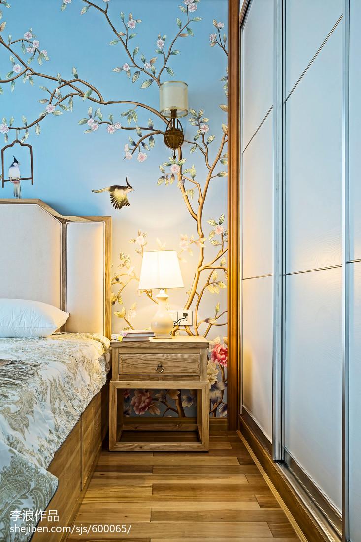 117平米四居卧室中式装修实景图片欣赏