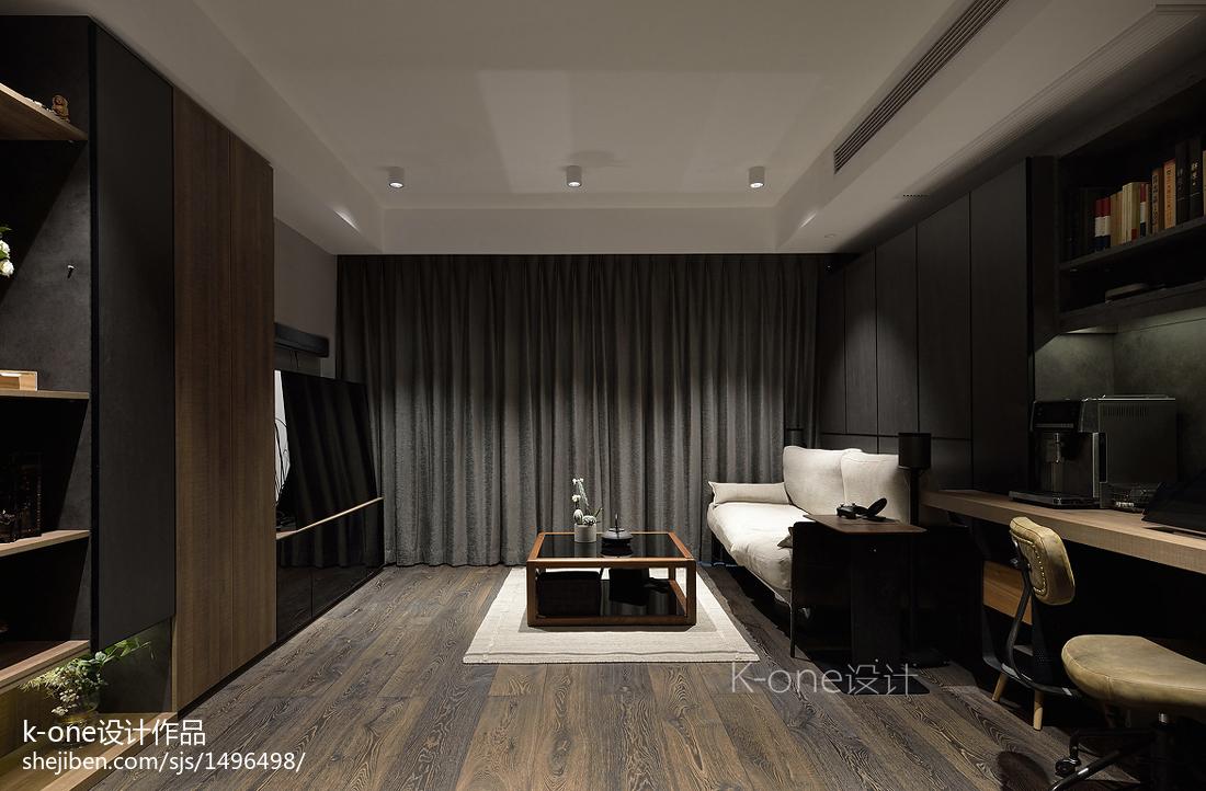 轻奢74平简约二居客厅装饰美图