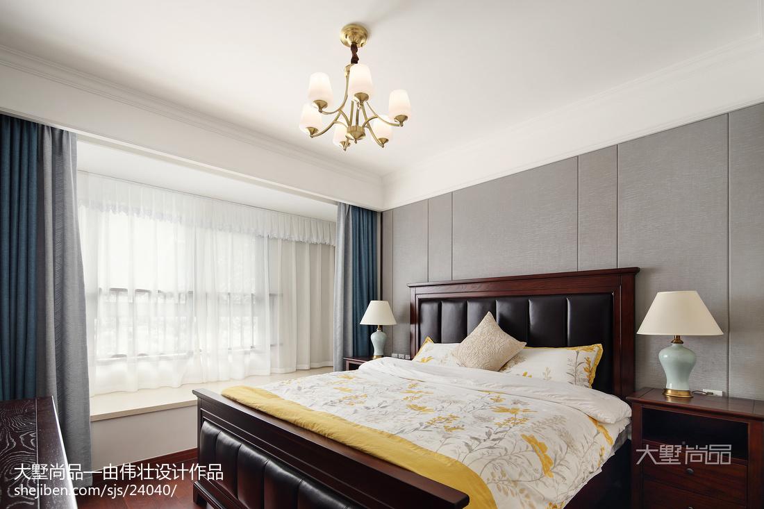 热门79平米二居卧室美式实景图片