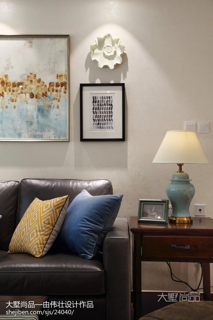 2018大小73平美式二居客厅装修实景图片欣赏