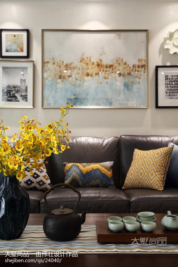 热门74平米二居客厅美式设计效果图