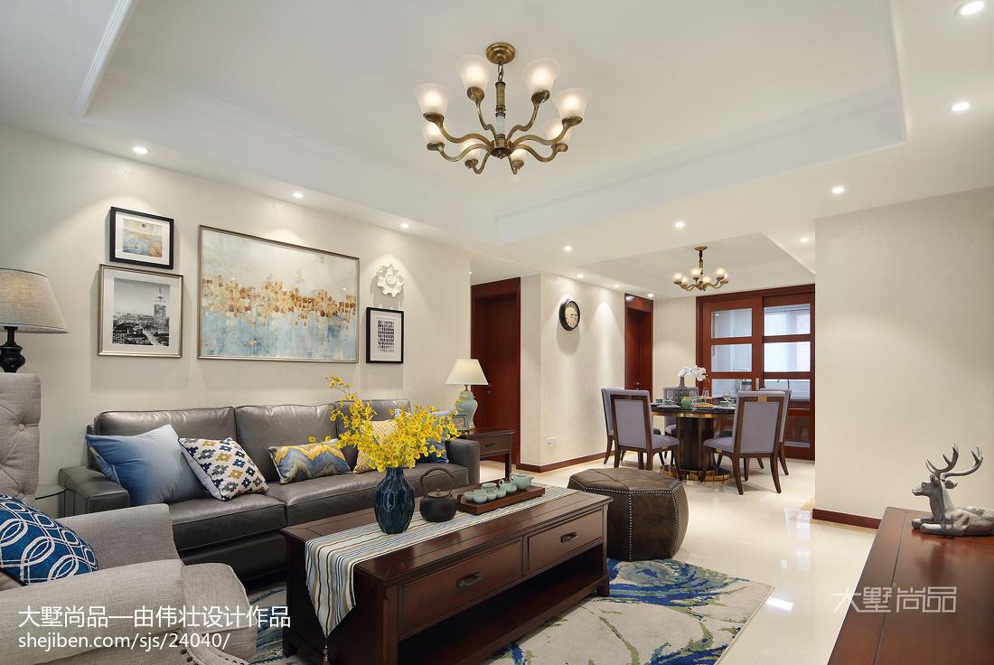 精美83平米二居客厅美式装修设计效果图片欣赏