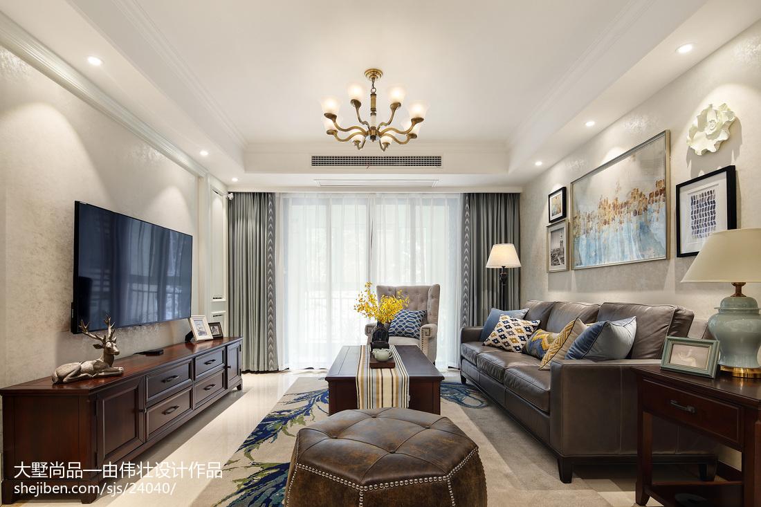 精选76平方二居客厅美式装修图
