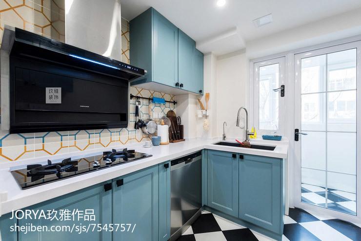 開放式廚房+卡座餐廳,僅占14㎡,采光超_3135406