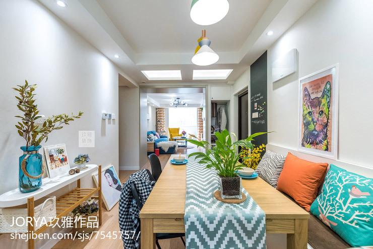 优雅88平美式三居装修装饰图