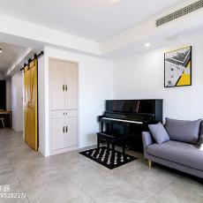 2018面积114平复式客厅混搭效果图片大全