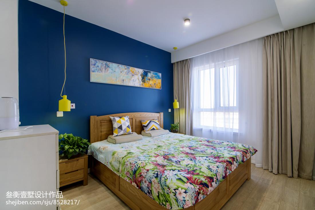 2018面积136平复式卧室混搭装修实景图片大全