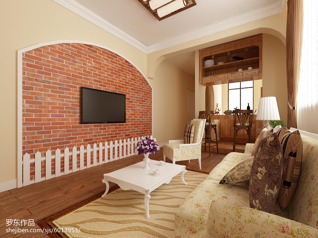 精美77平米田园小户型客厅装修欣赏图