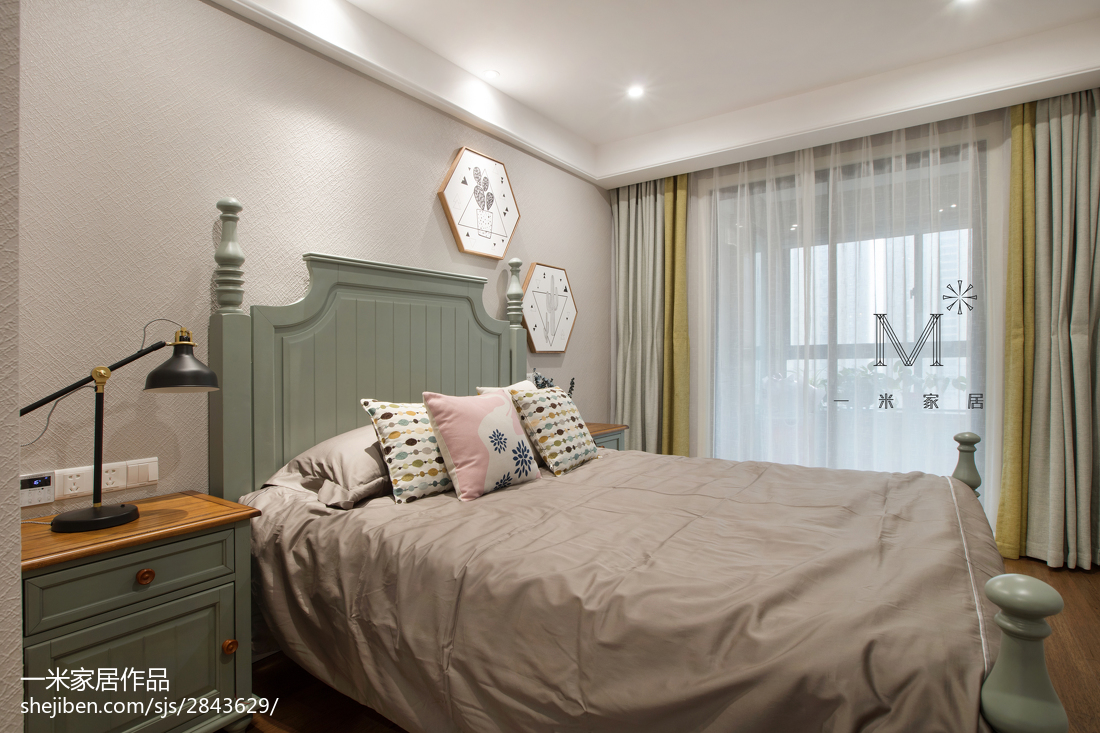 浪漫87平美式二居卧室设计美图