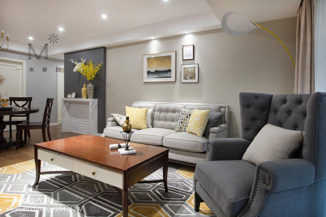 2018面积72平美式二居客厅装修图