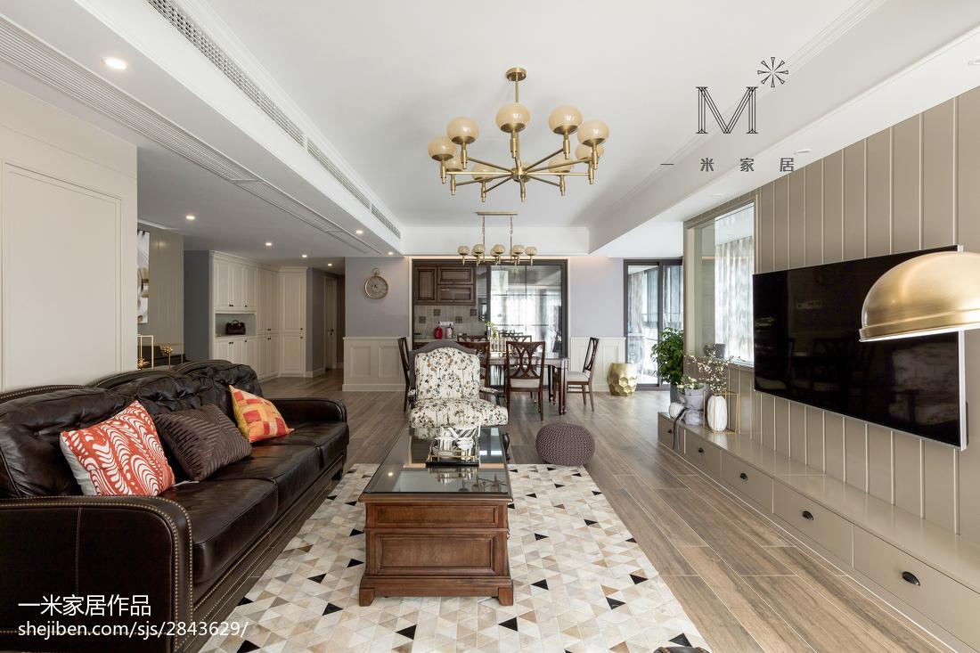精选面积122平美式四居客厅装修欣赏图