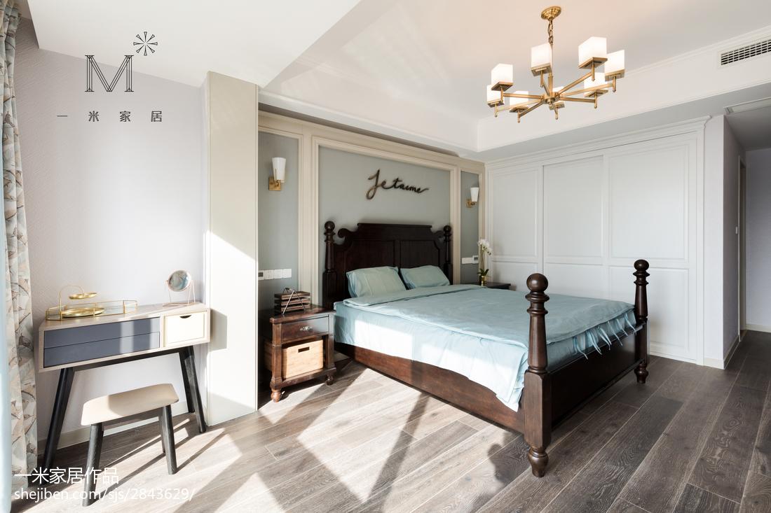 115平米四居卧室美式装修图