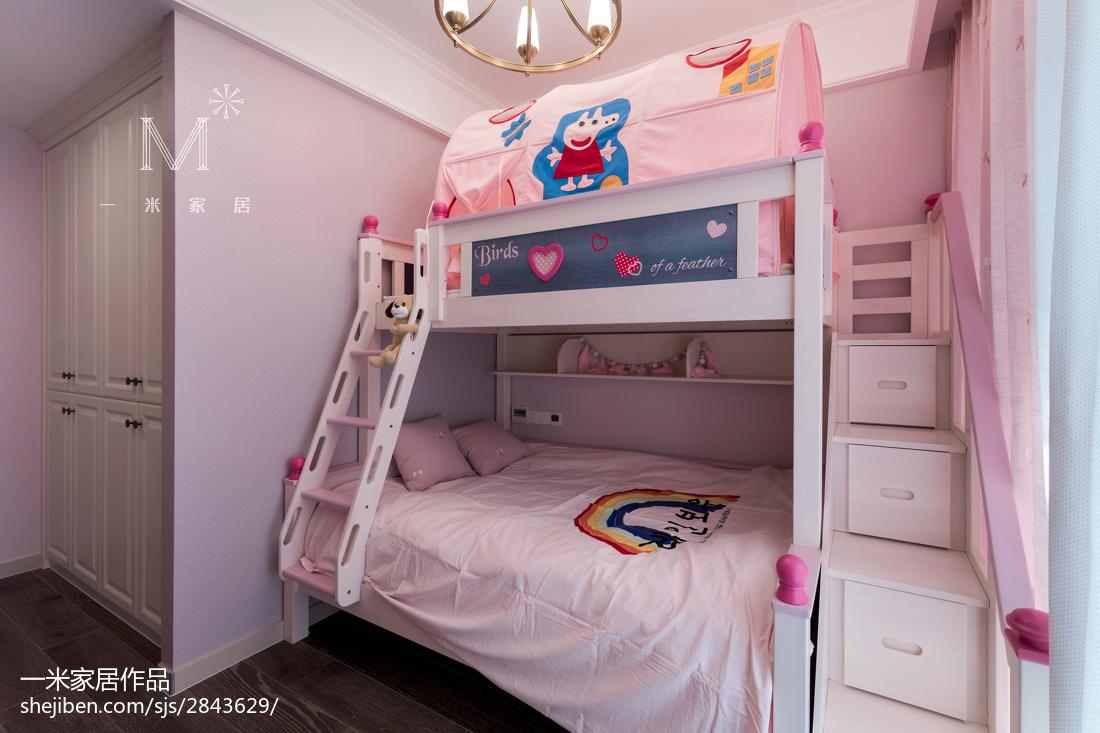 2018精选面积126平美式四居儿童房装修欣赏图片
