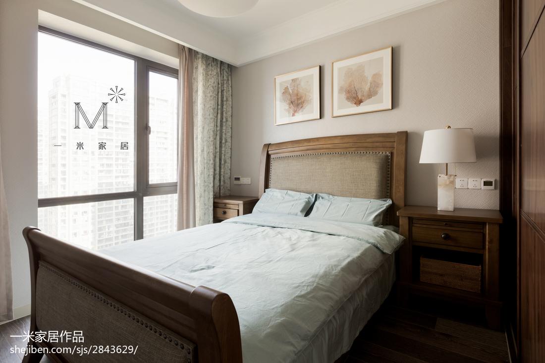 2018面积142平美式四居卧室效果图片大全