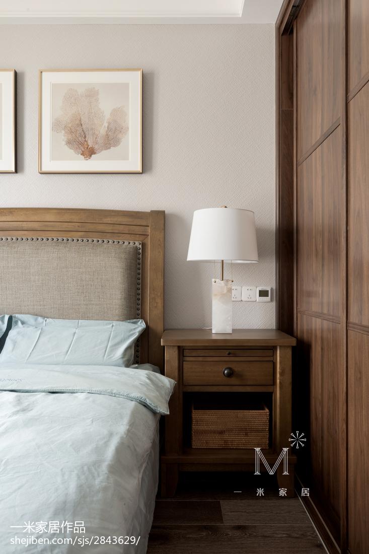 精美116平米四居卧室美式装修欣赏图