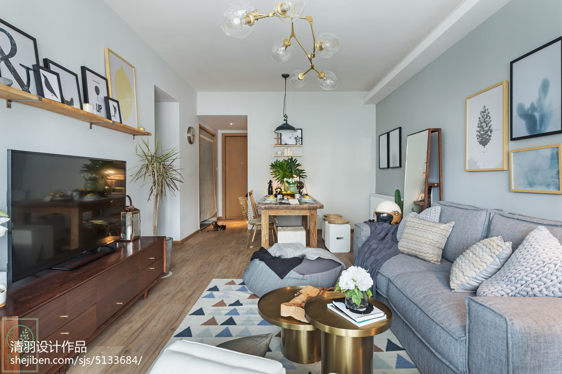 温馨88平美式二居装修美图