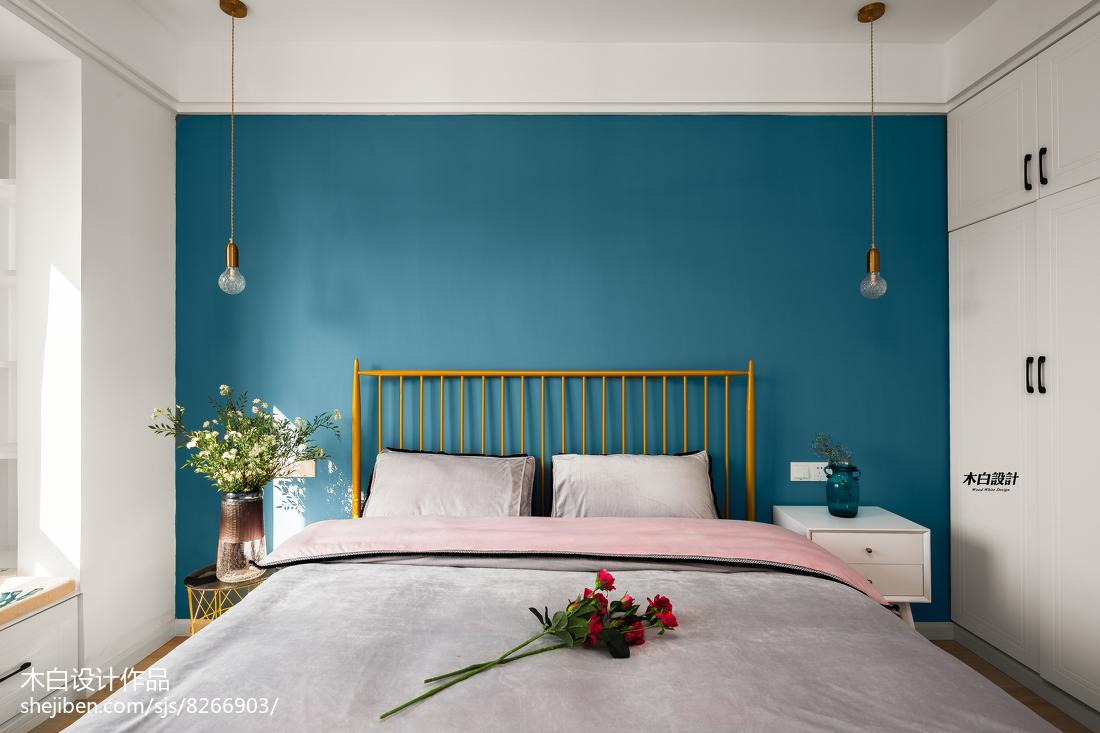 精选面积88平北欧二居卧室装修图片