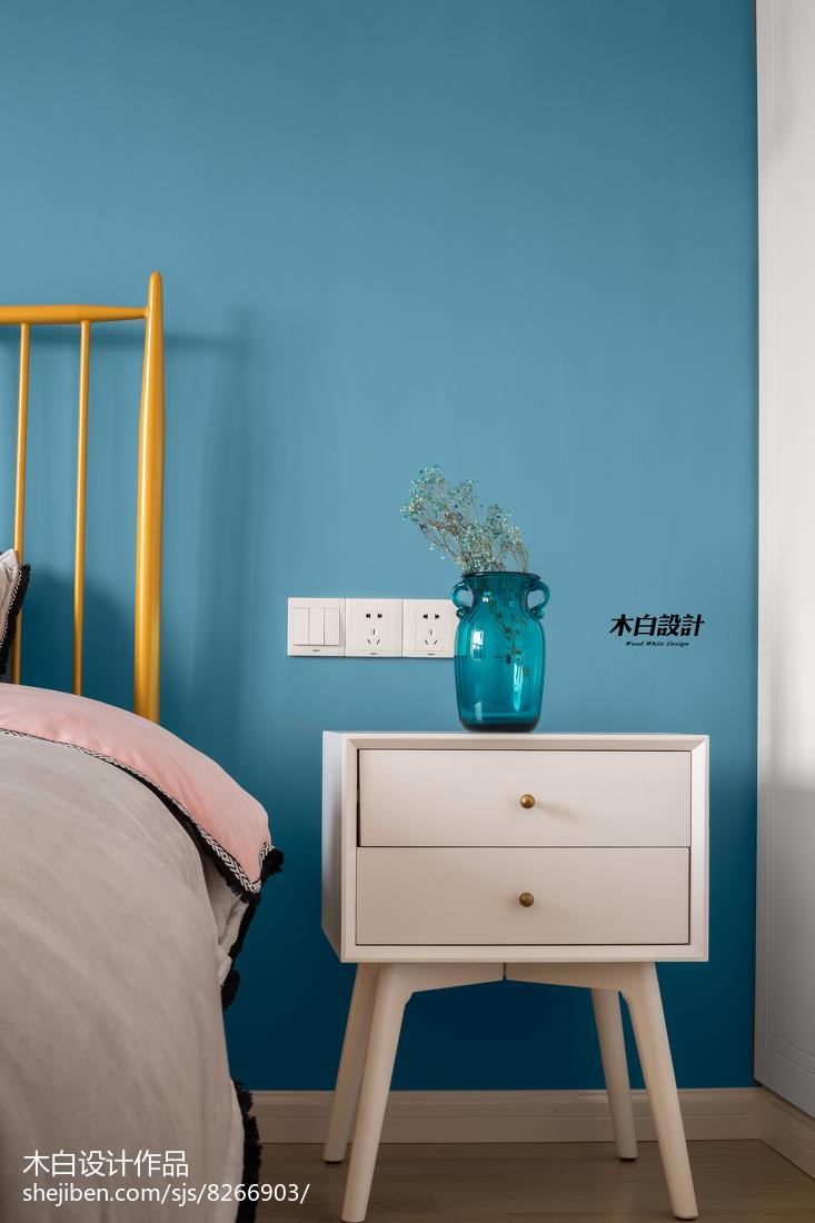面积84平北欧二居卧室装饰图