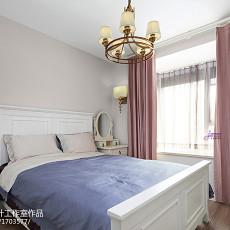 2018面积76平美式二居卧室装饰图片大全
