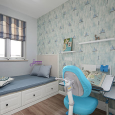 精美88平米二居儿童房美式欣赏图片大全