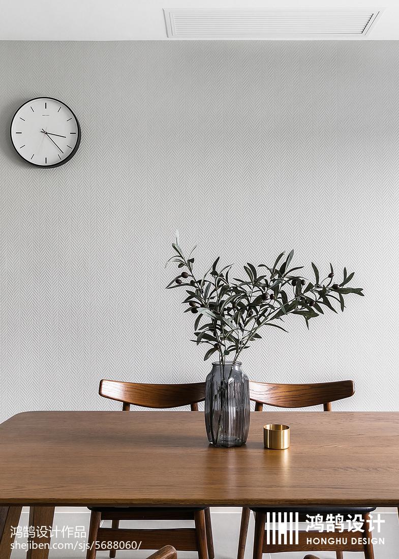 2018面积98平现代三居餐厅效果图片
