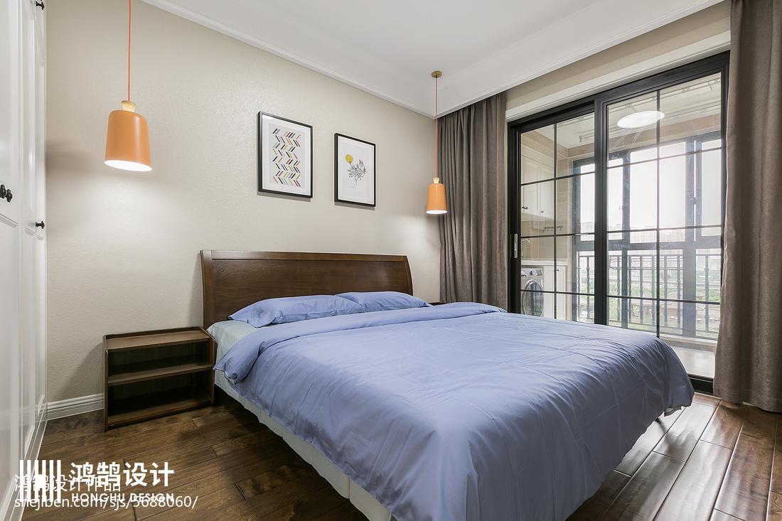 2018101平米三居卧室现代装修欣赏图片