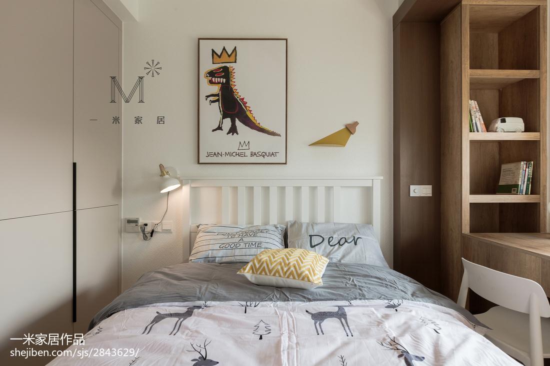 温馨130平北欧二居卧室装饰美图