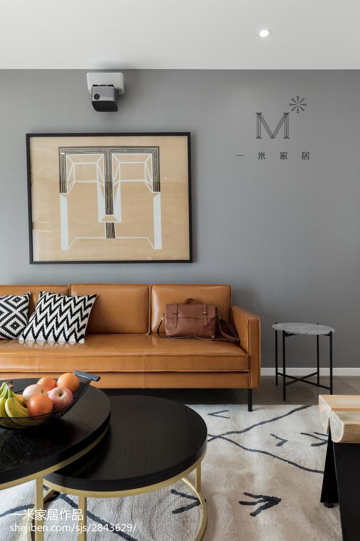 温馨74平北欧二居客厅实拍图