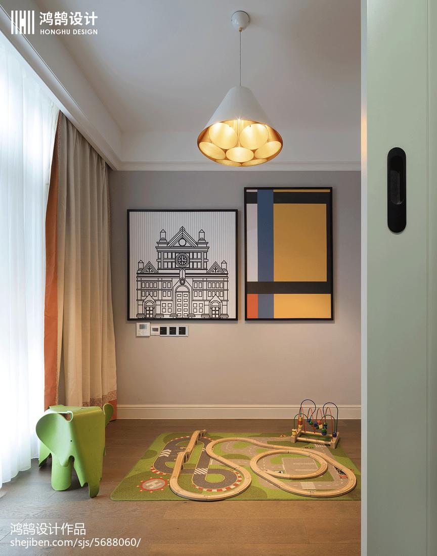 2018137平米美式别墅休闲区装修设计效果图片欣赏