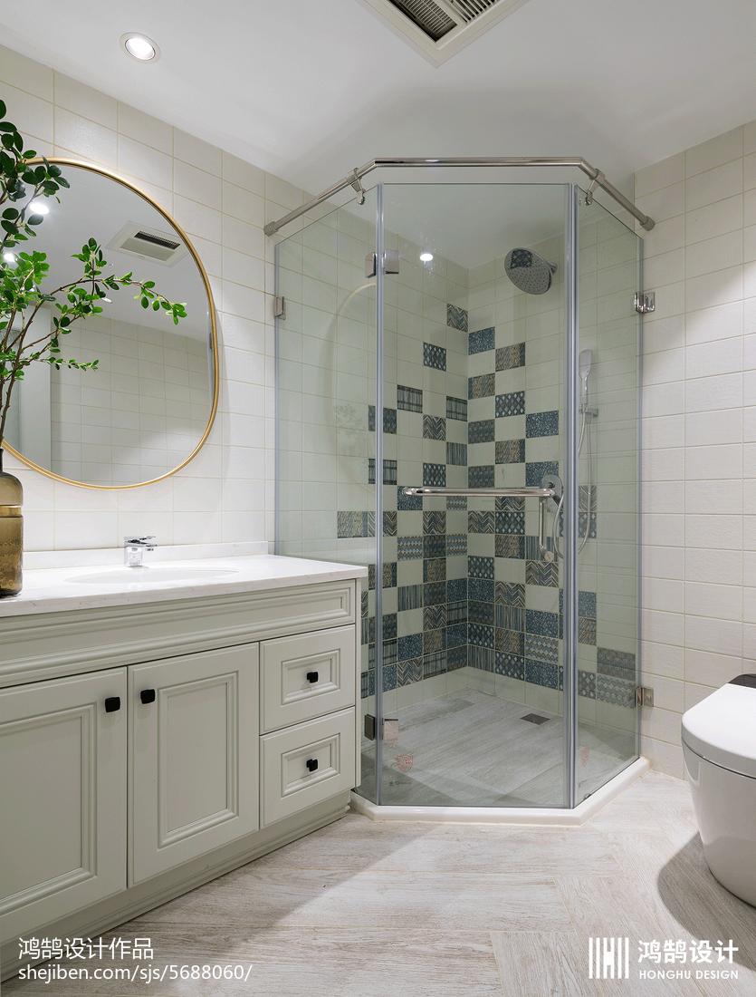 热门118平米美式别墅卫生间装修图片欣赏