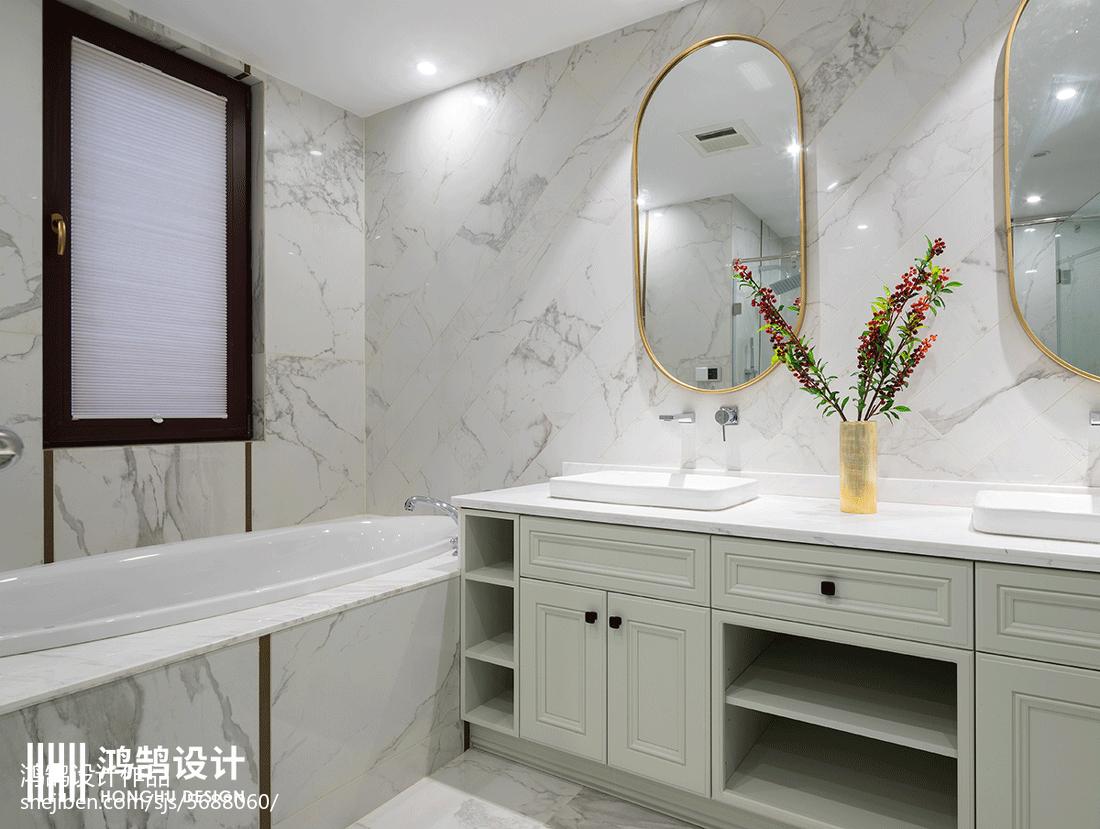 精选面积130平别墅卫生间美式装修设计效果图片大全